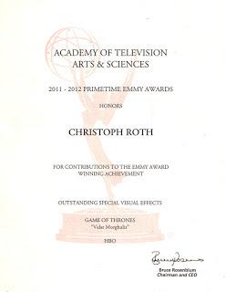 Roth Emmy Cert